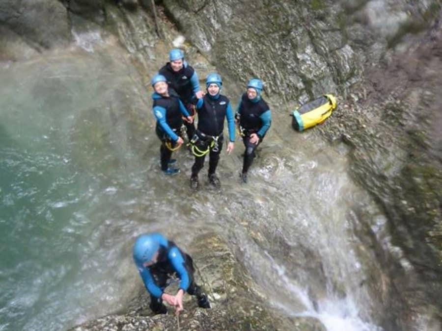 Canyoning  dans le canyon des Ecouges près de Grenoble (38)