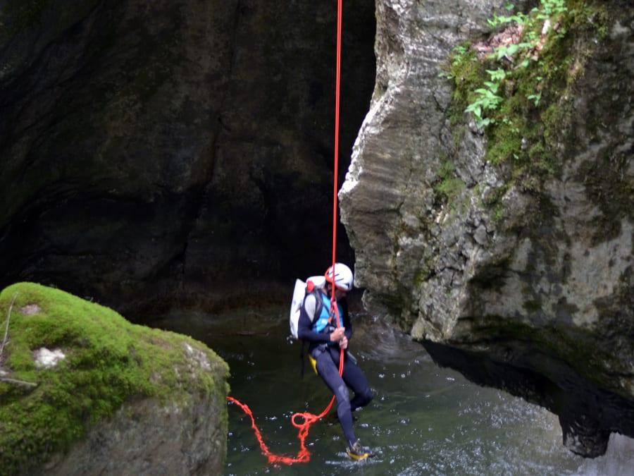 Canyoning du Pont du Diable au Ruisseau de Bellecombes (73)