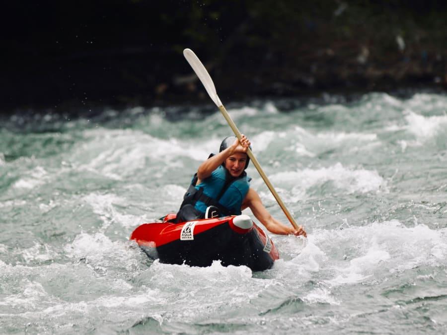Kayak (air boat), journée complète sur le Gave de Pau