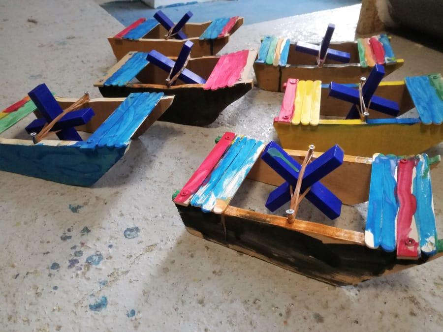 Atelier Parent/Enfant Création d'un bateau à hélice à Paris 18