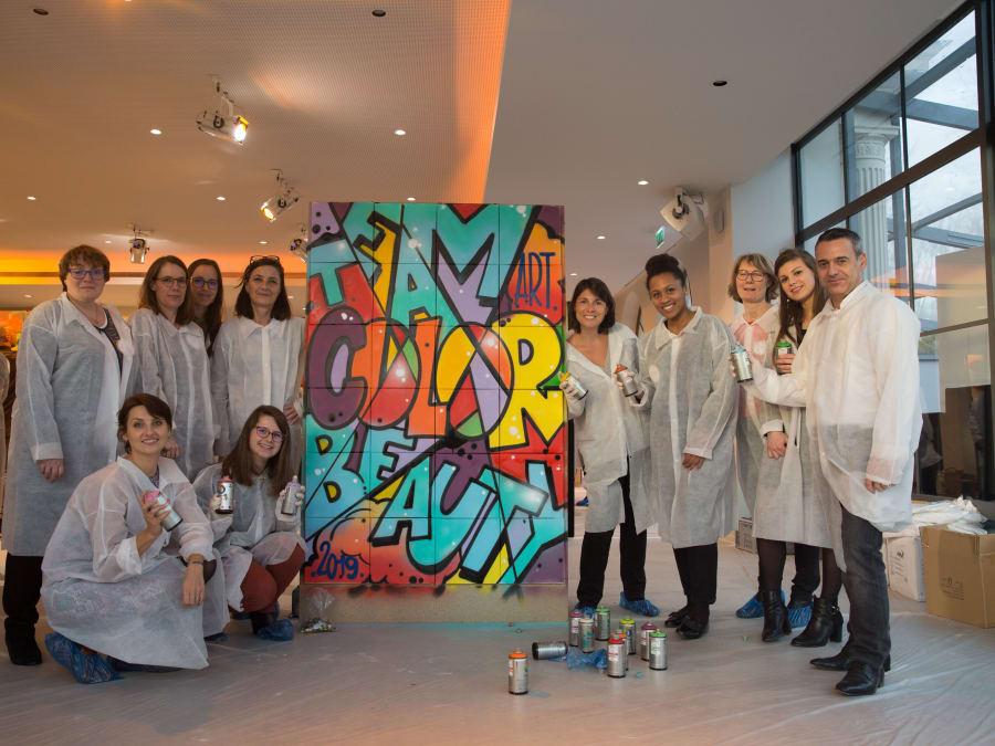 Team Building Graffiti : réalisation d'une oeuvre collective