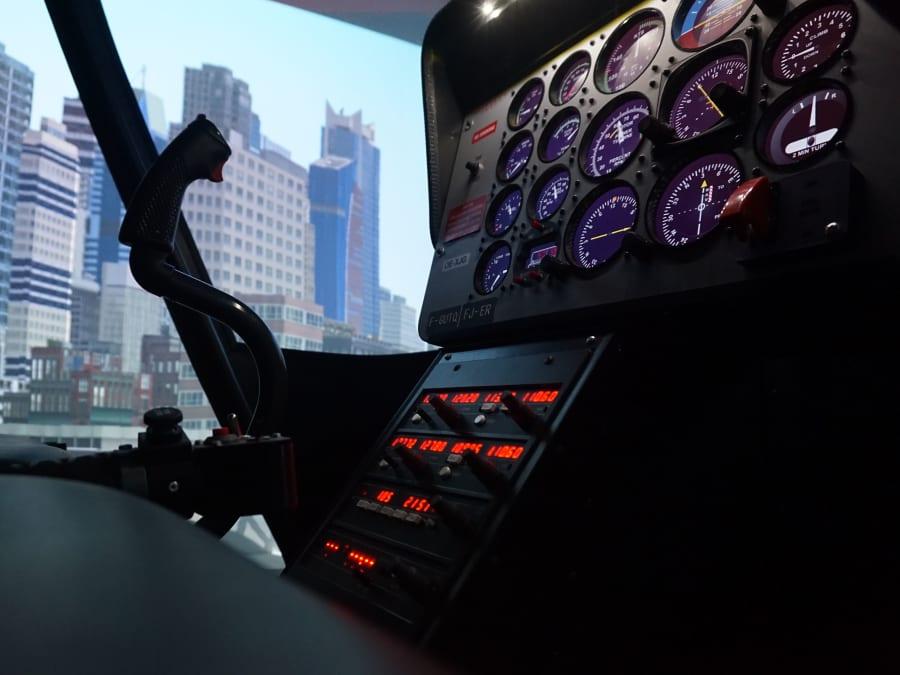 Simulateur de pilotage d'hélicoptère à Lyon