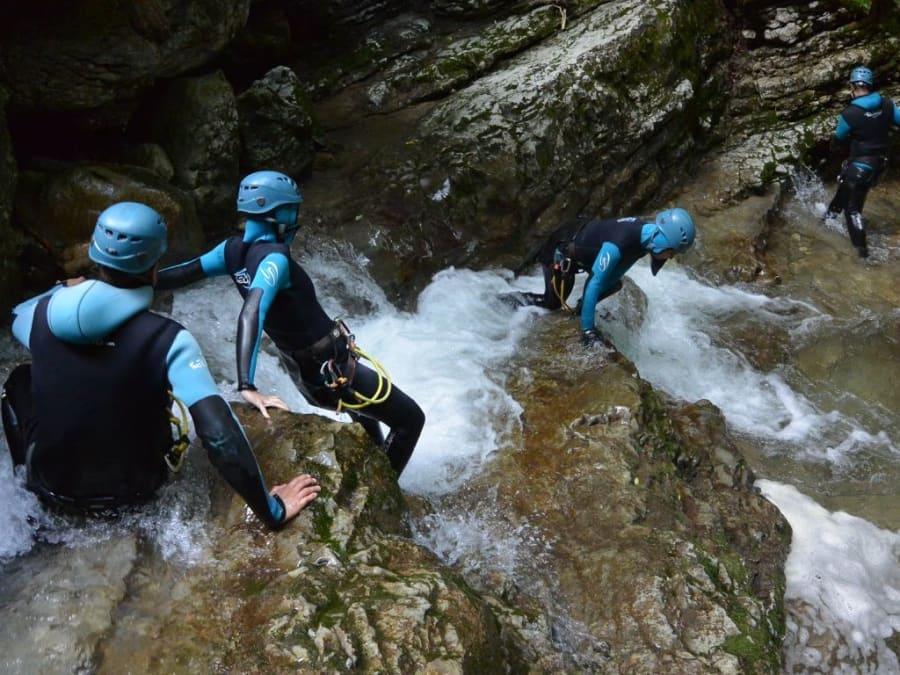 Canyoning  dans le canyon de l'Infernet près de Grenoble (38)