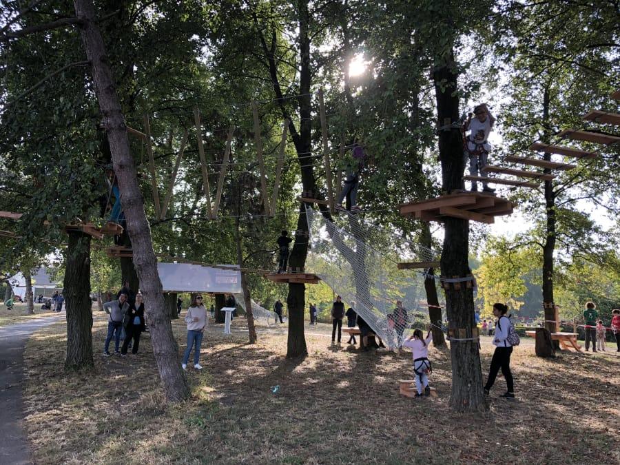 Parcours Accrobranche, parc Paris Val-de-Marne à Choisy-le-Roi