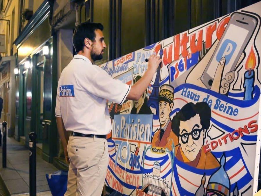 Show Live de Street Art par un artiste professionnel