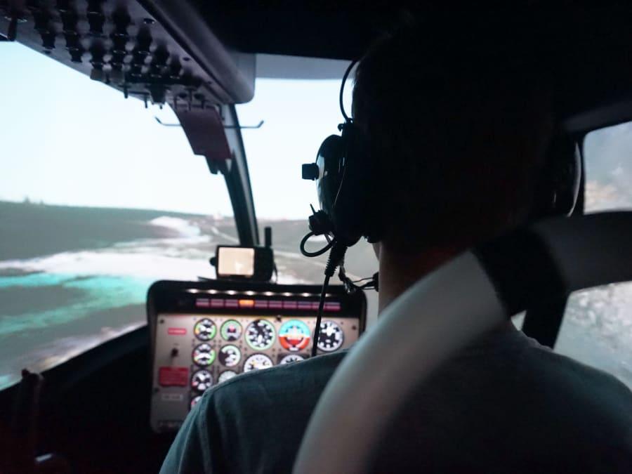 Simulateur de pilotage d'hélicoptère Bell 206 à Metz (57)