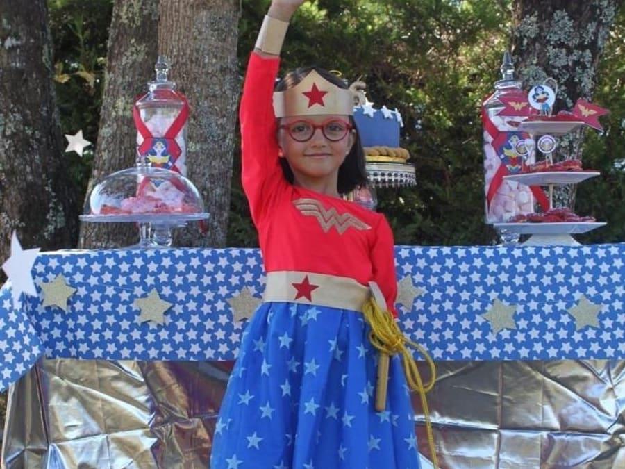 Anniversaire Wonder Woman 3-12 ans à domicile (33 & 24)