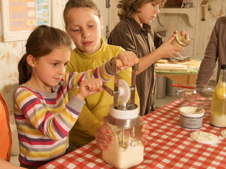 Atelier du Beurre & animaux  Ferme de Gally (St-Cyr-l'Ecole)
