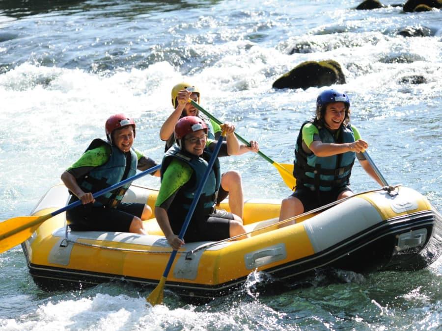 Mini-raft à côté de Lourdes (Saint-Pé-de-Bigorre, 65)