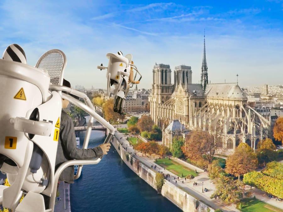 Survolez Paris et ses monuments en réalité virtuelle