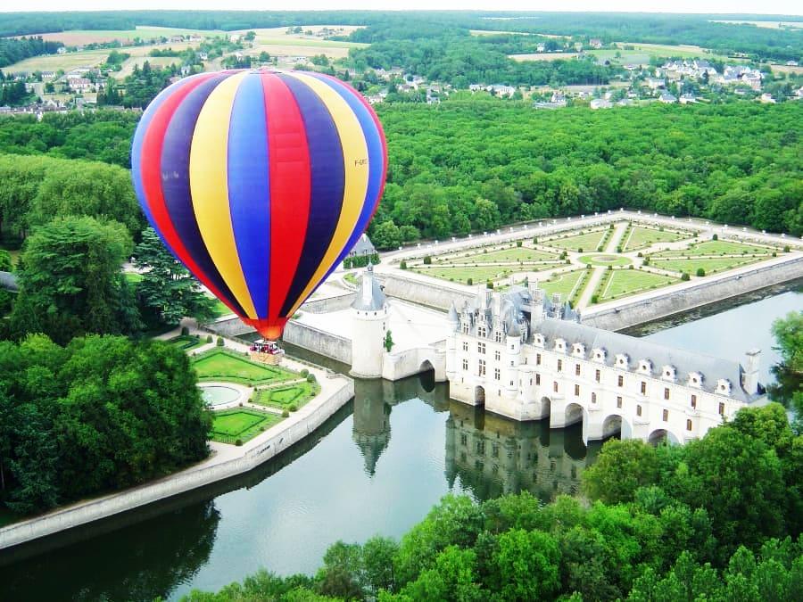 La France vue du ciel : vol en Montgolfière à Chenonceau