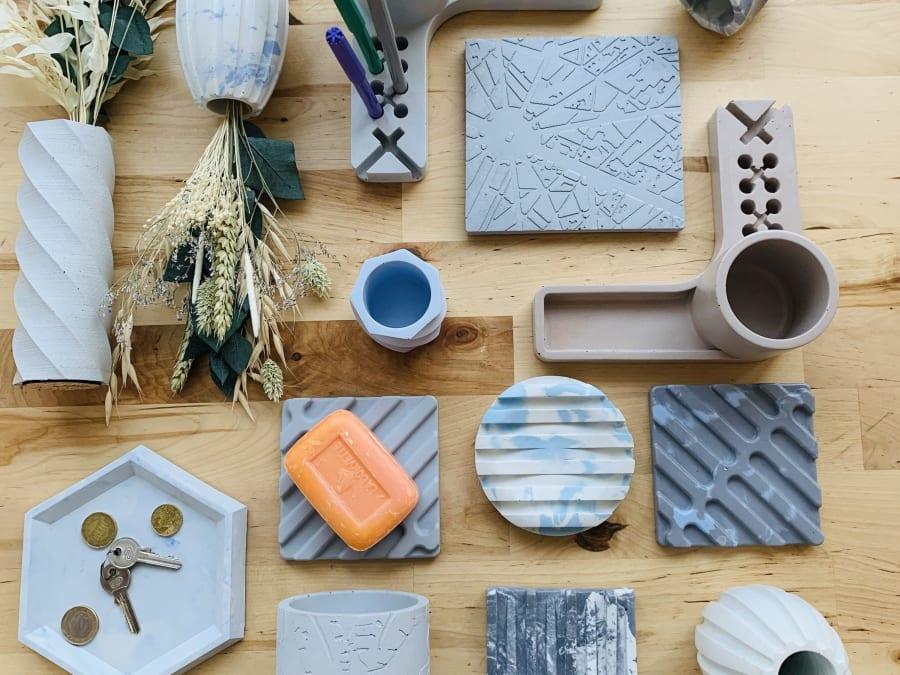Atelier Création d'objets en Béton à Paris 14ème
