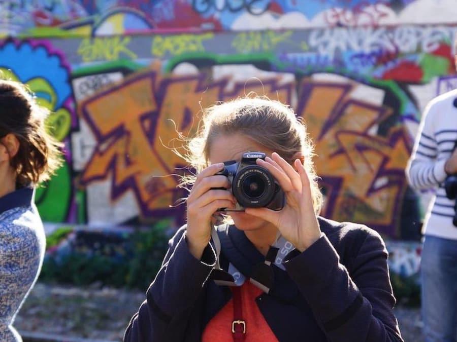 Cours de photo lors d'une balade privée à Nantes