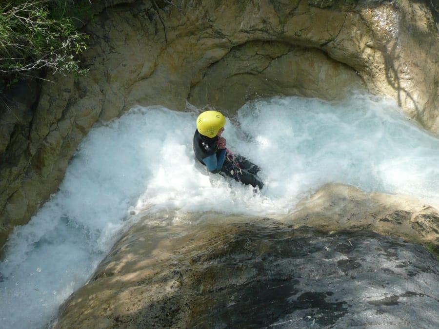 Canyoning dans le canyon de Costeplanne, Vallée de l'Ubaye