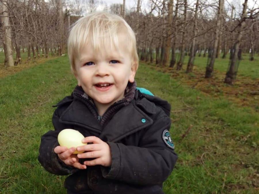 Chasse aux œufs pour Pâques à la cueillette de Compans!