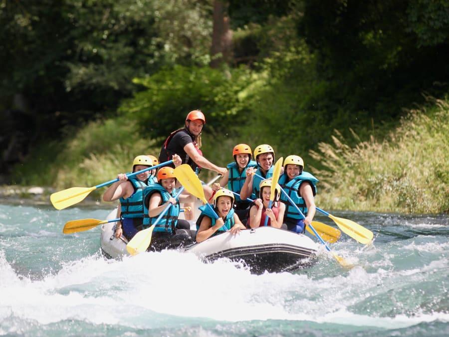 Rafting, demi-journée sur le Gave de Pau, départ Villelongue