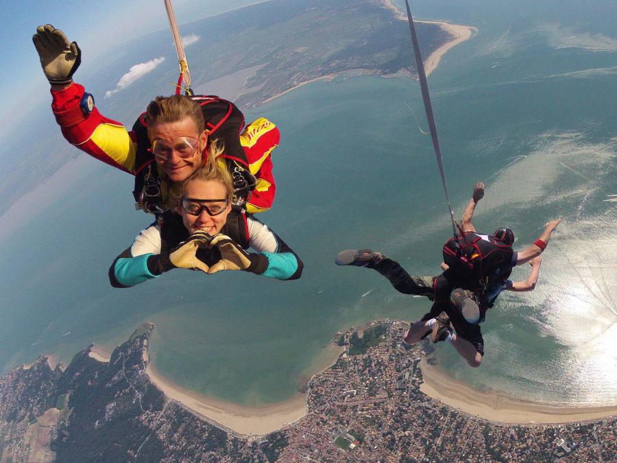 Saut en parachute tandem à Royan en Charente-Maritime (17)