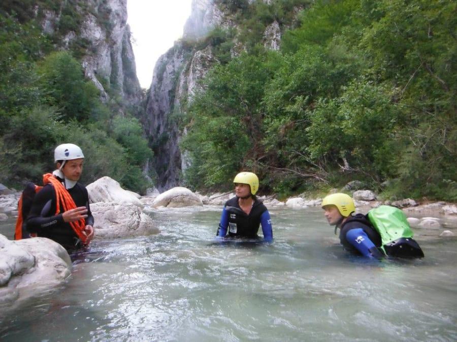 Canyoning sur le canyon d'Aiglun (Estéron-06)