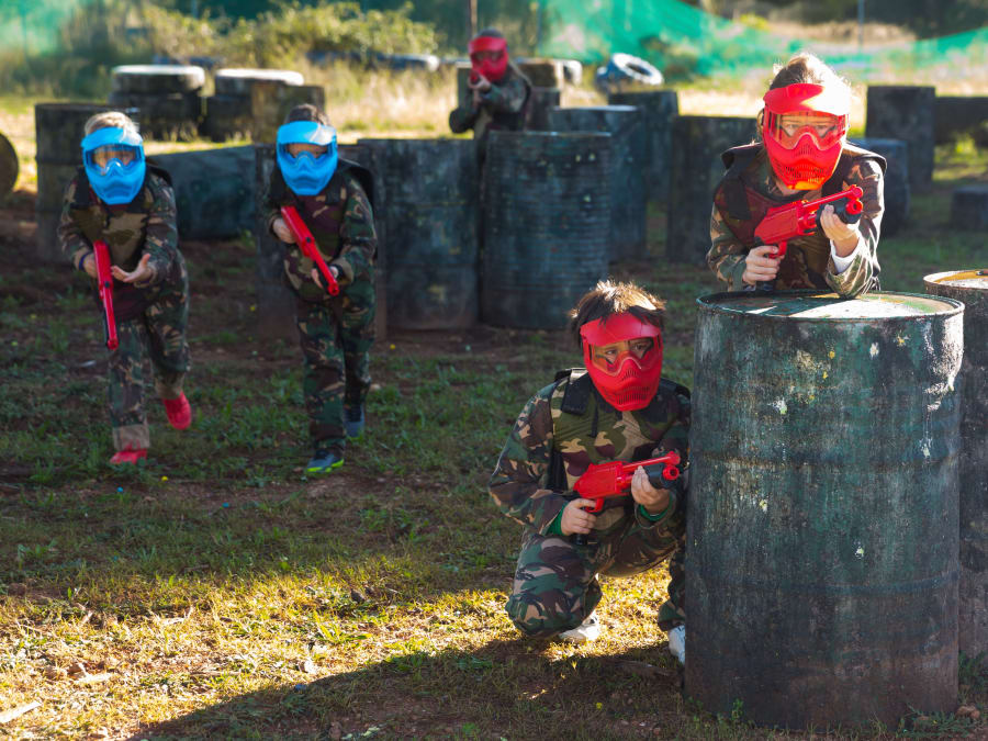 Paintball enfants 7-12 ans à Simandres au sud de Lyon (69)