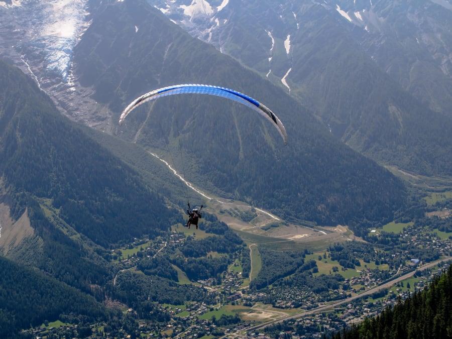 Vol Freestyle en Parapente à Chamonix (74)