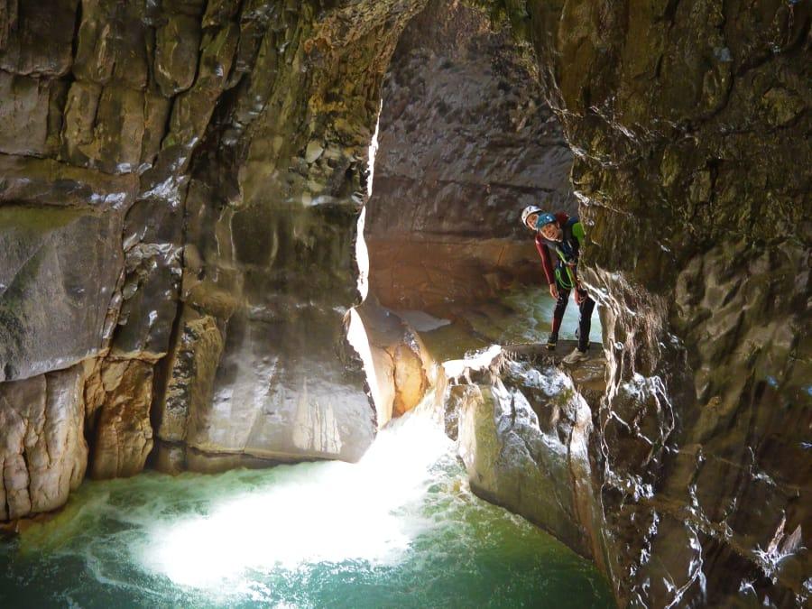 Canyoning  dans les Gorges de Chailles près de Grenoble (73)