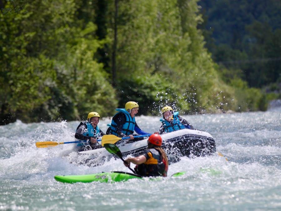 Mini-raft, demi-journée sur le Gave de Pau, départ Villelongue