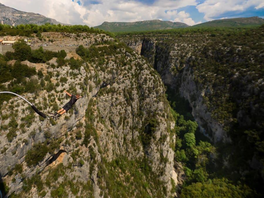 Saut à l'élastique du pont de l'Artuby, Gorges du Verdon - Var
