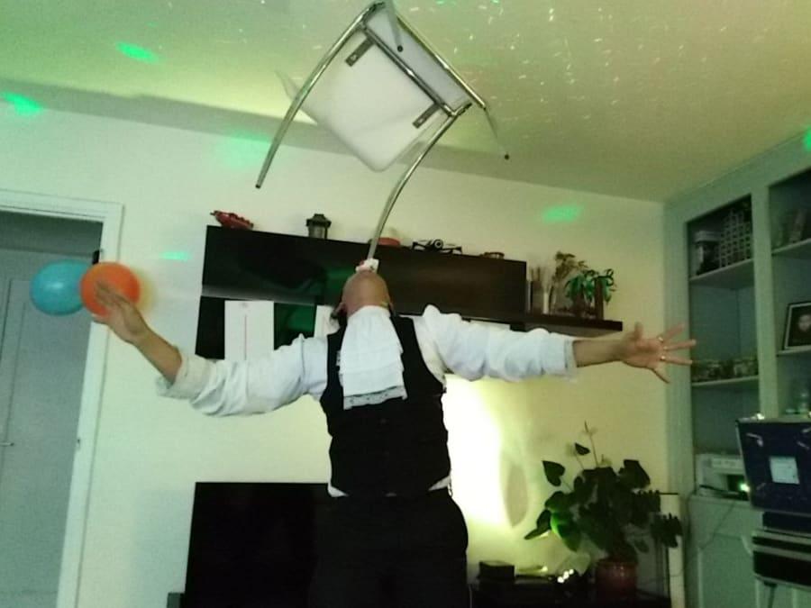 Anniversaire Cirque 3-12 ans à domicile (Île-de-France)
