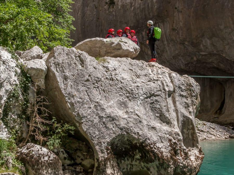 """Public averti: randonnée aquatique """"Imbut"""", canyon du Verdon"""