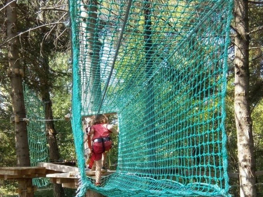 Parcours aventure Accrobranche proche de Vallon Pont d'Arc