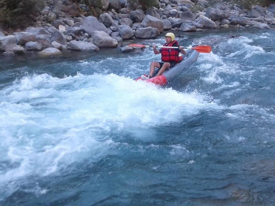 Kayak-Raft sportif sur la Roya près de Monaco