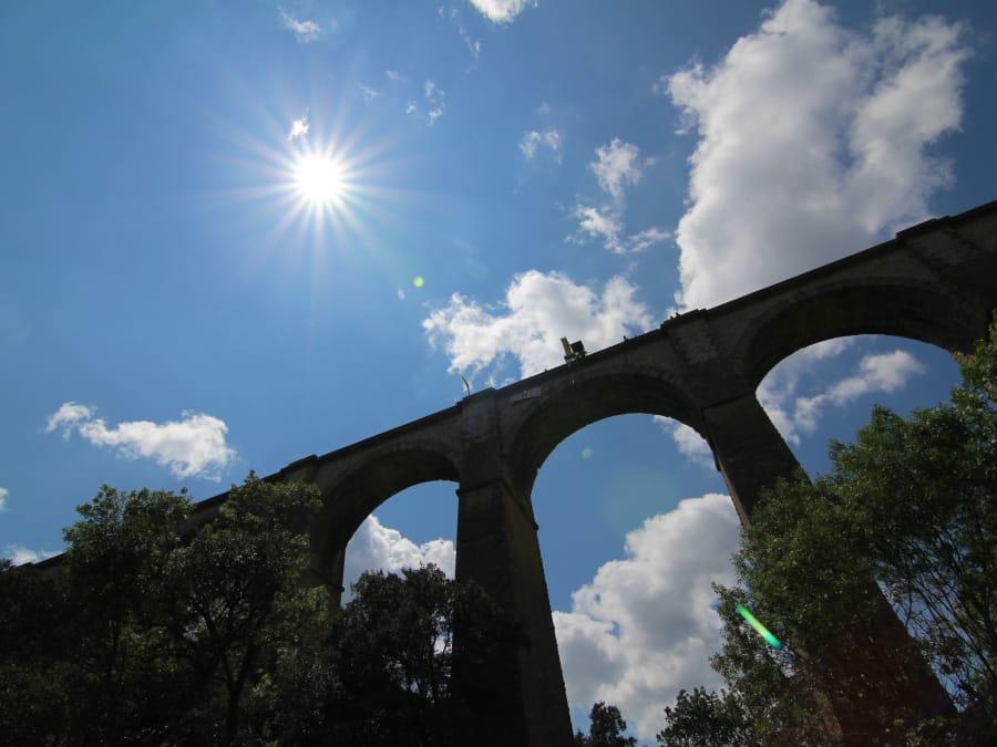 Saut à l'élastique depuis le Viaduc de Boussagues