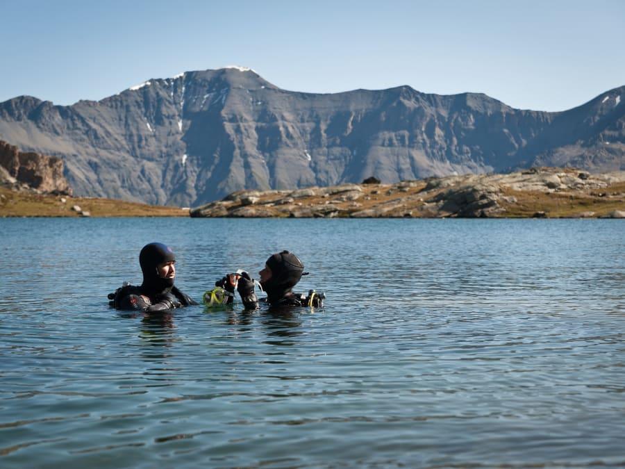 Baptême de plongée en lac de montagne à Val-Cenis (73)