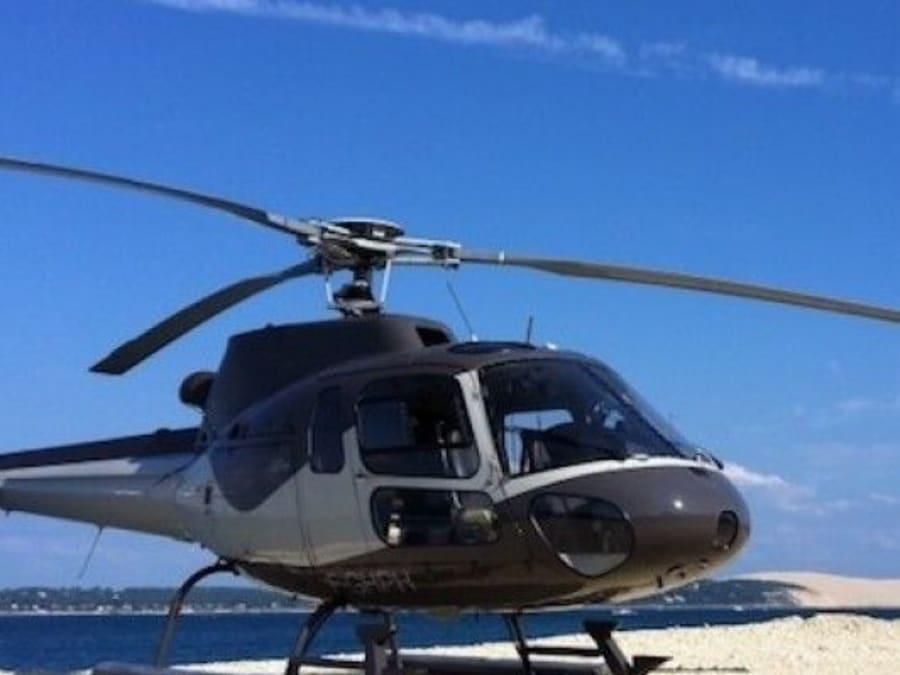 Vol en hélicoptère découverte Arcachon tour des bassins