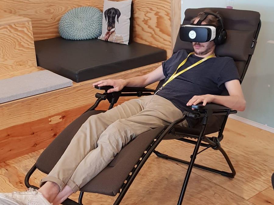 Animation Relaxation immersive Réalité Virtuelle en entreprise