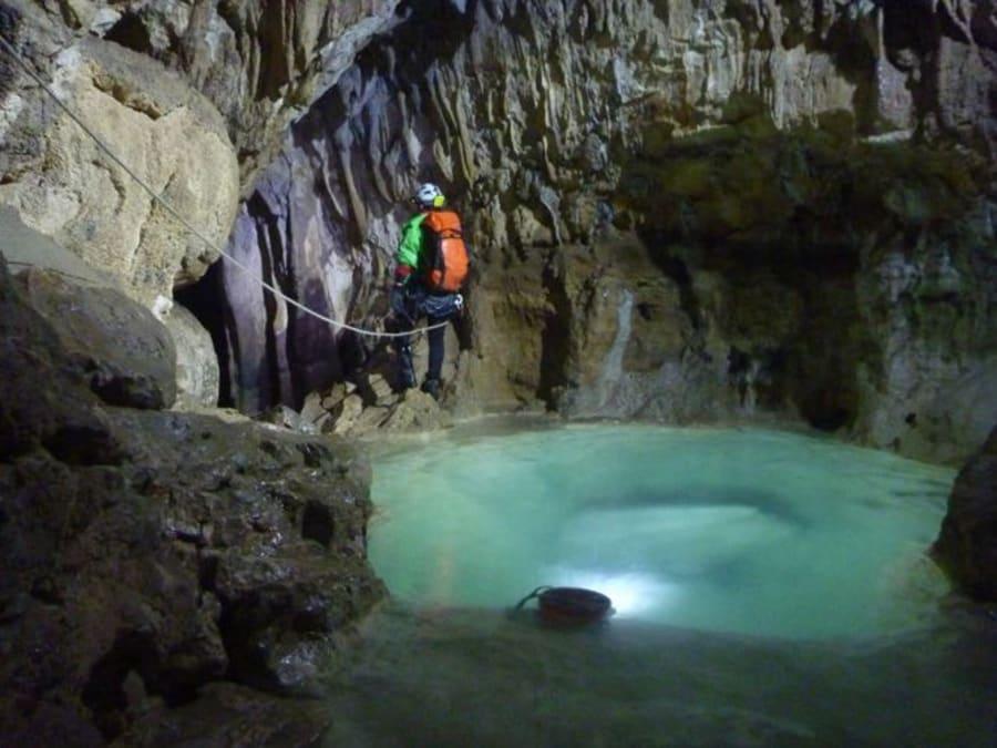 Spéléologie grotte de gournier dans le Vercors (38)