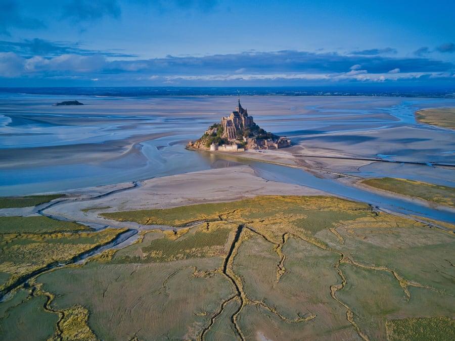 Vol en ULM : Baie du Mont-Saint-Michel en Normandie