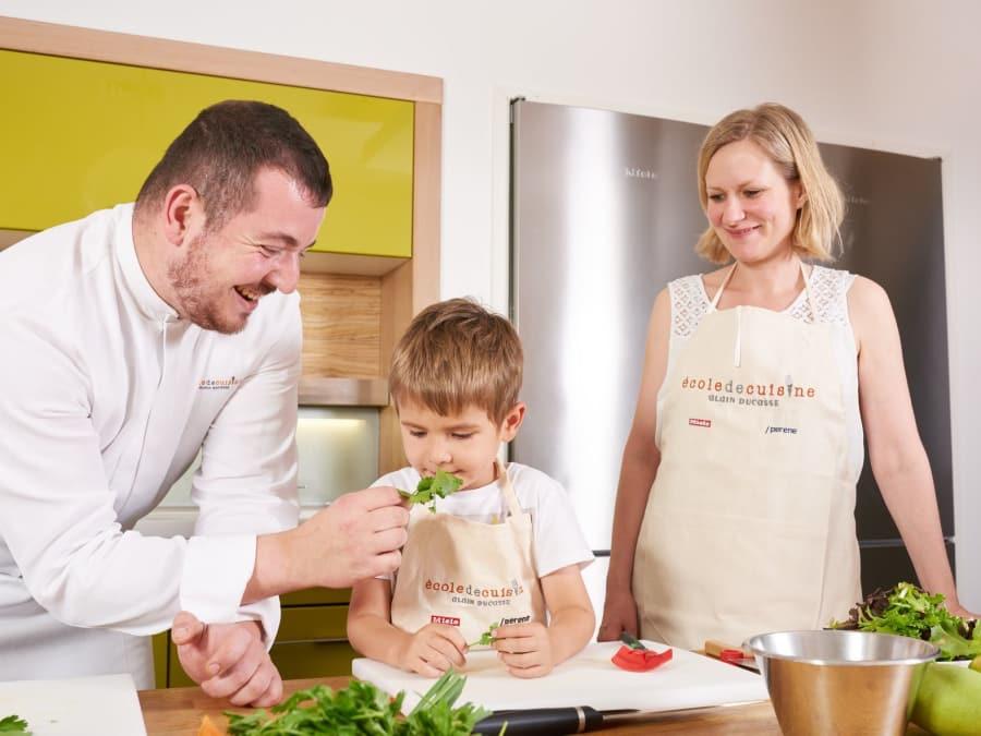 Atelier de cuisine Parent/Enfant à l'Ecole de cuisine Ducasse