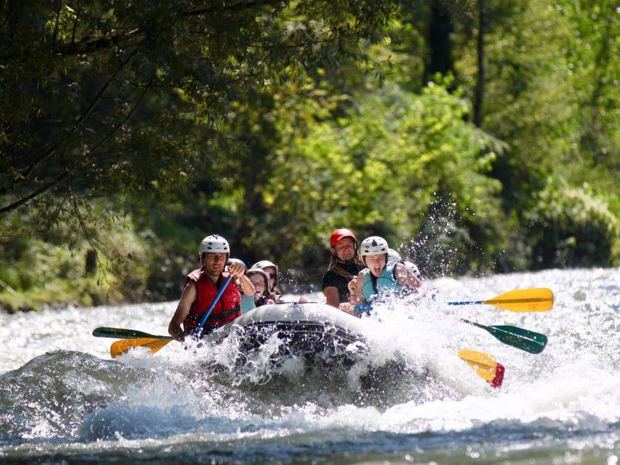 Rafting, journée complète sur le Gave de Pau départ Villelongue