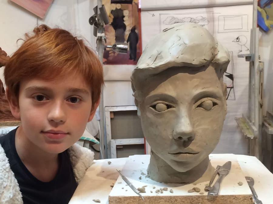 Atelier sculpture / modelage pour enfants dès 6 ans à Paris 17
