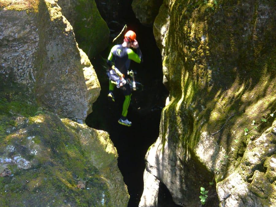 EVG Canyoning dans le canyon du Groin dans l'Ain (Chambéry)
