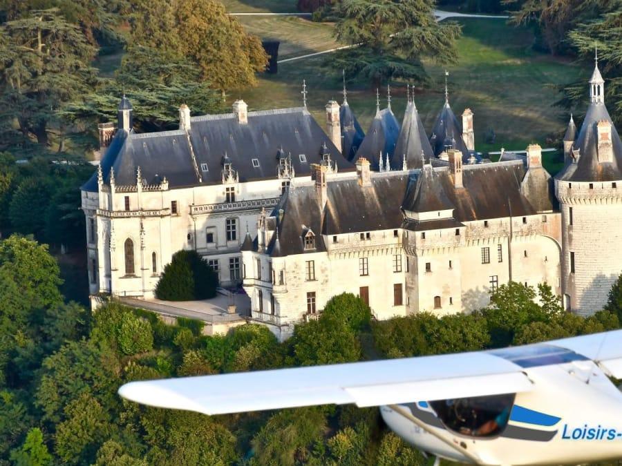 Les Châteaux de la Loire vus du ciel en ULM (41)