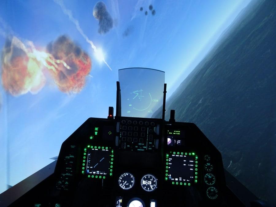 Simulateur de pilotage d'avion de chasse F-35 à Toulouse