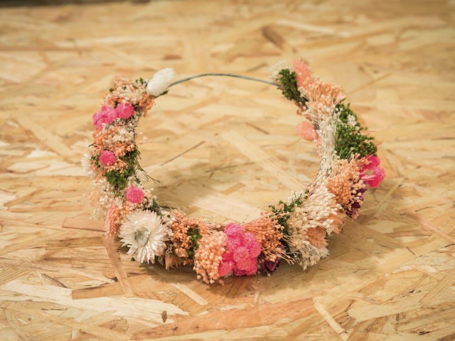 Atelier création de couronne en fleurs séchées Truffaut Plaisir