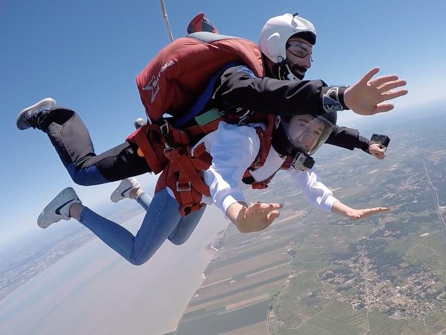 Saut en parachute tandem à Soulac-sur-Mer proche de Bordeaux