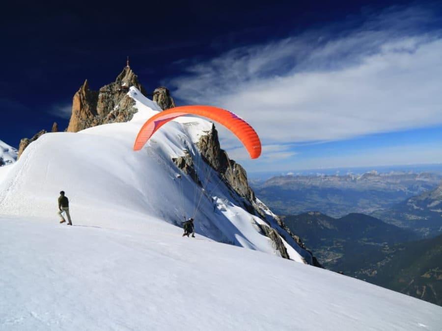 Vol de l'Aiguille du Midi en Parapente à Chamonix (74)