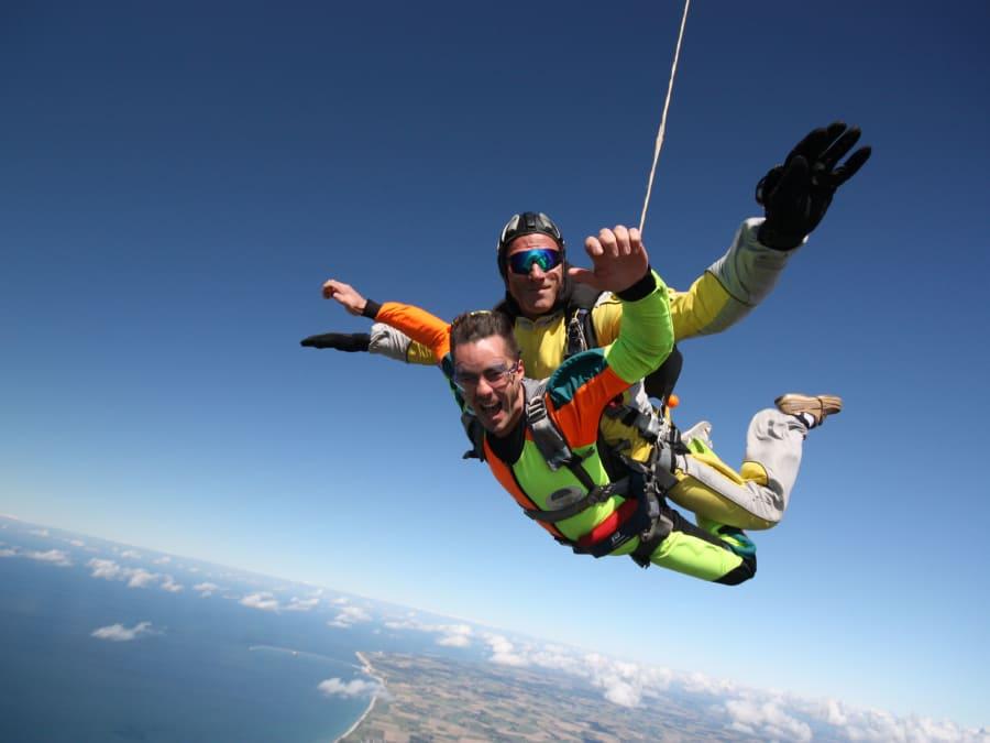 Saut en parachute tandem Deauville Trouville Honfleur Etretat