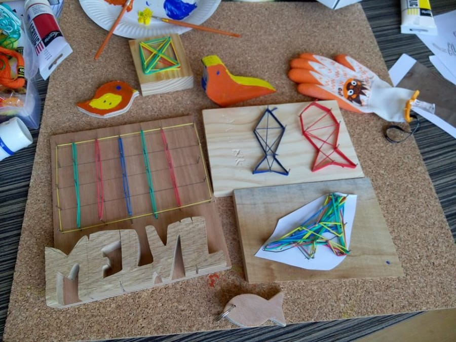 Anniversaire Créatif Tableau en Fil Tendu à domicile (69)