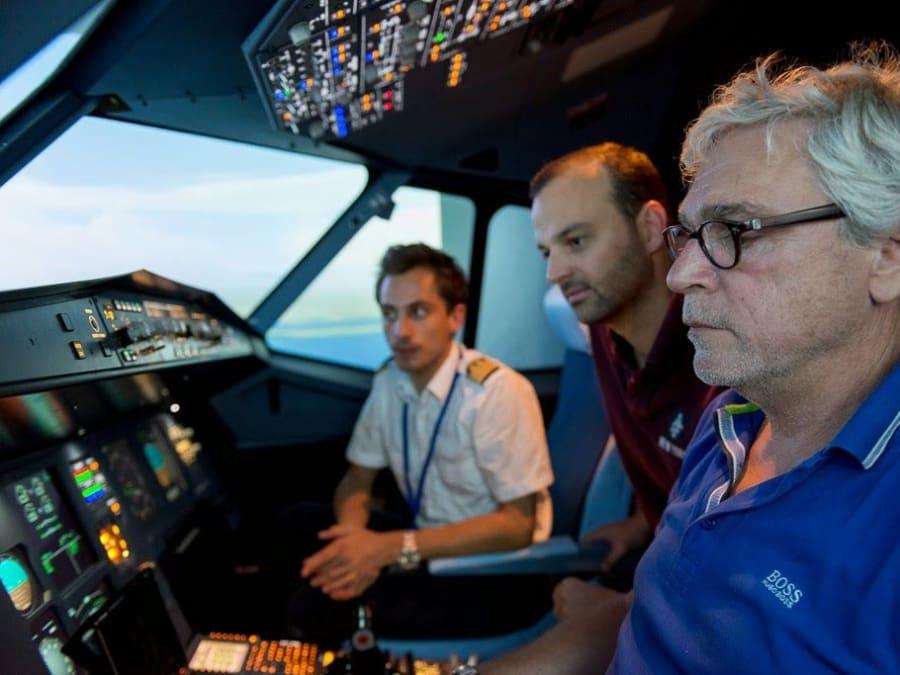 Simulateur de pilotage d'avion de ligne à Lyon