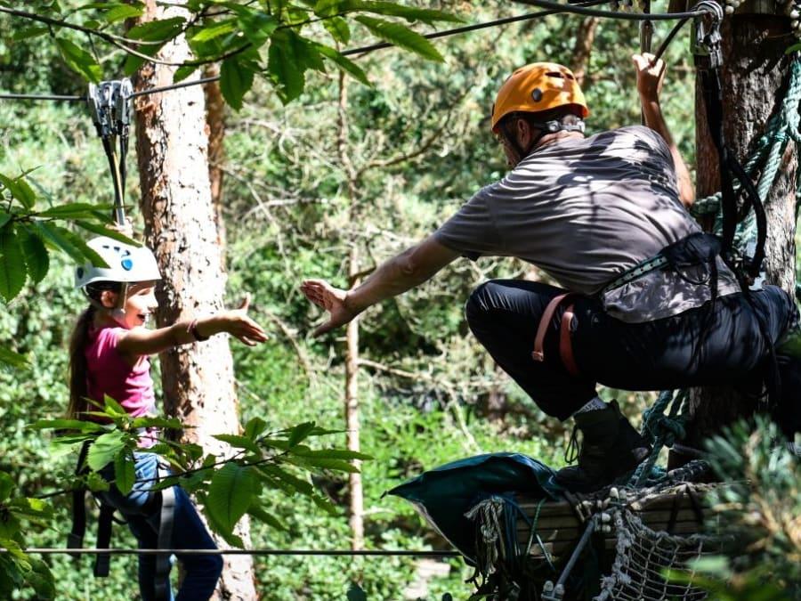 Parc aventure accrobranche à Chevry-Cossigny (77)